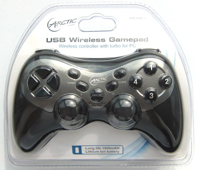 Упаковка USB Wireless Gamepad